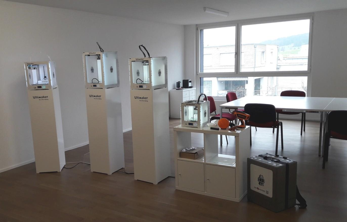 Showroom-Bereich der DIM3NSIONS GmbH
