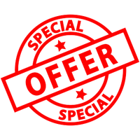 Symbol mit Special Offer Text