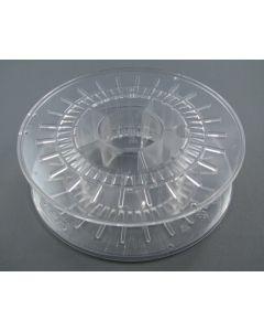 Leerspule aus Polycarbonat transparent