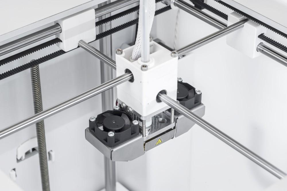 Der Druckkopf des Ultimaker Zwei Plus Connect