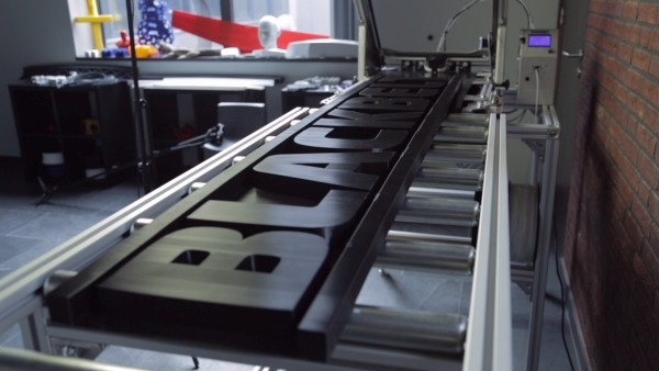 Blackbelt Logo auf einem Blackbelt 3D Drucker