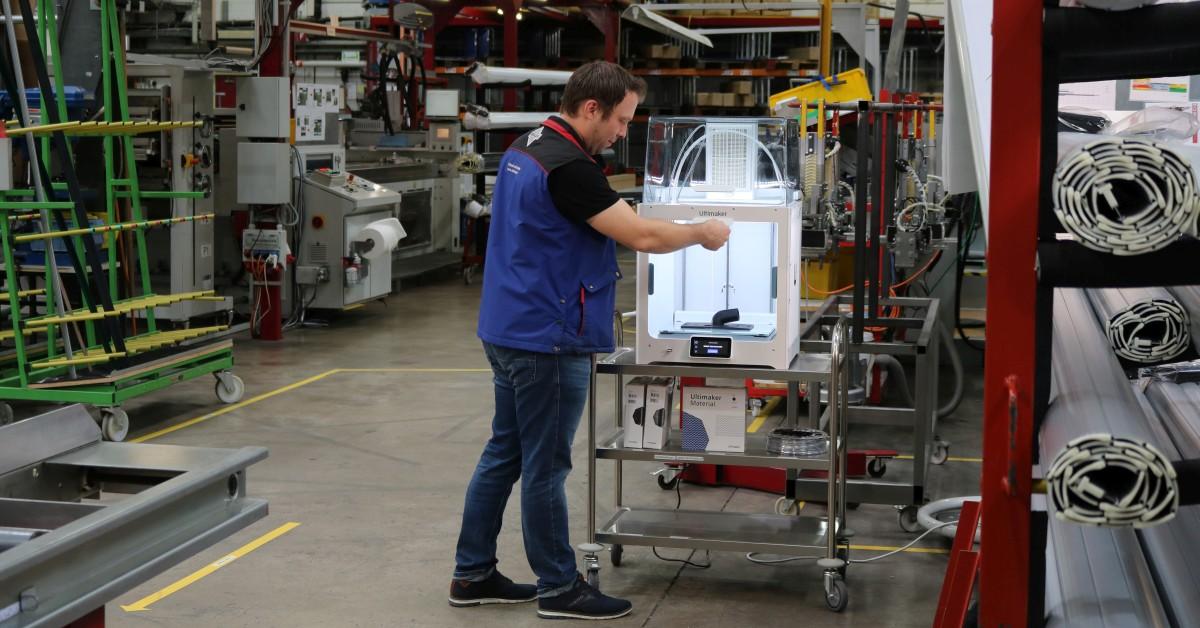 Ultimaker S5 mit Air Manager in der Produktion